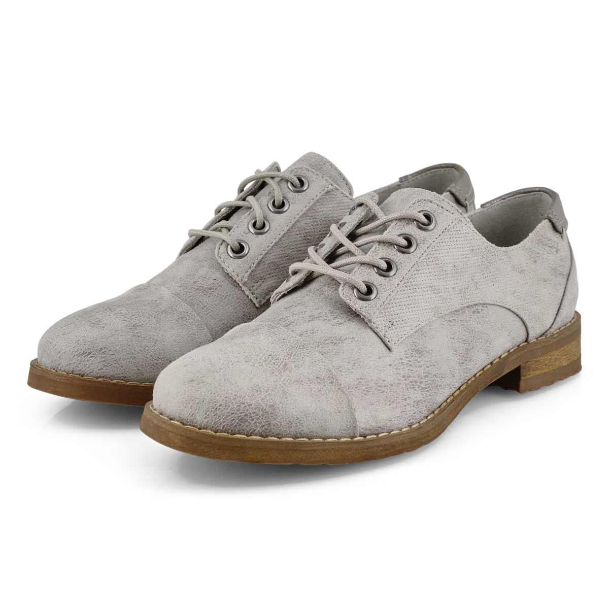Lds Meghan light grey lace up oxford
