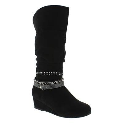 Paris Blues Girls MELANIE black tall casual boots