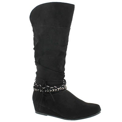 Grls Melanie II blk tall casual boot