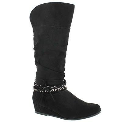 Paris Blues Girls' MELANIE II black tall casual boots
