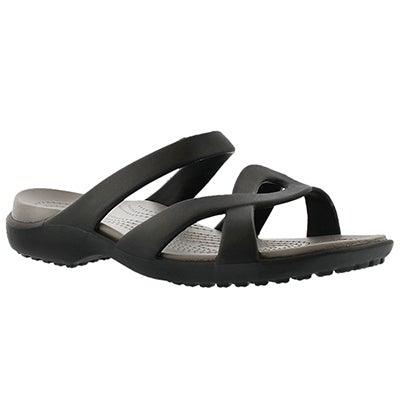 Crocs Women's MELEEN TWIST black casual sandal
