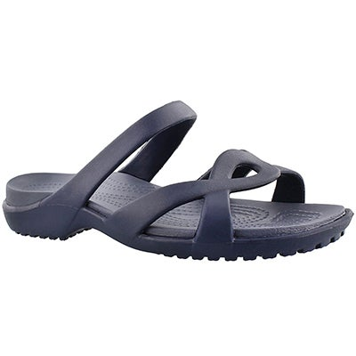 Crocs Women's MELEEN TWIST navy casual sandal