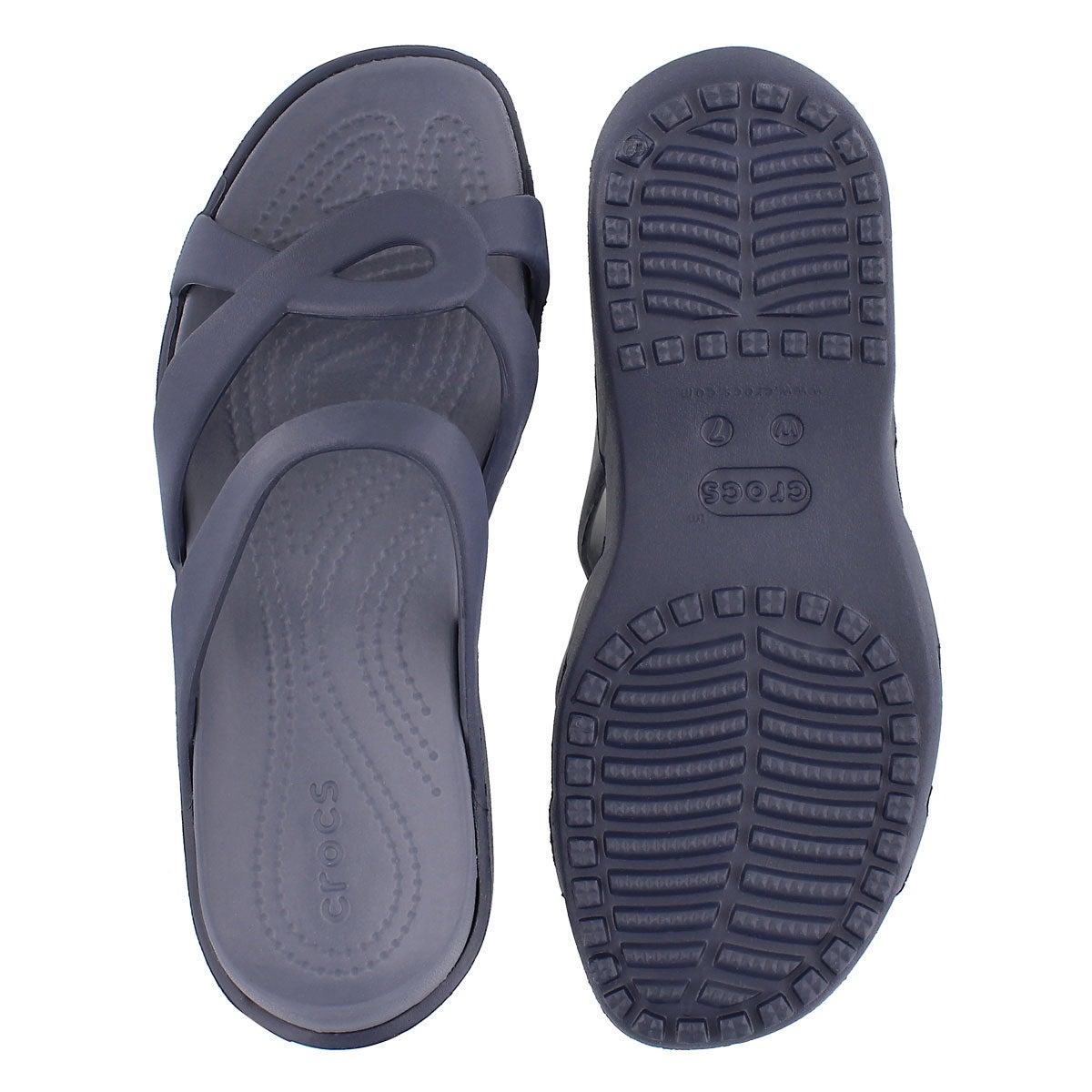 Lds Meleen Twist navy casual sandal