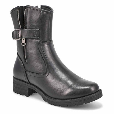 Women's MELISSA  black side zip ankle boots