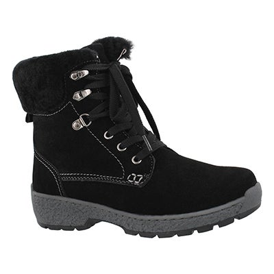 Lds Michelle blk wp shearling lined boot