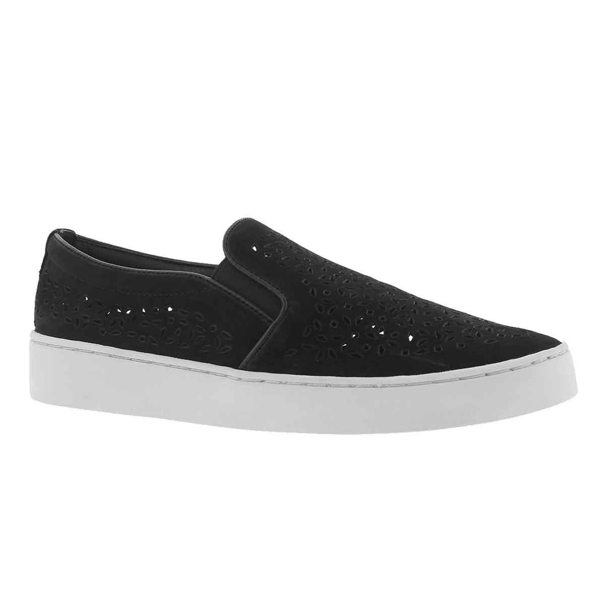 Women's MIDI PERF black casual slip on shoes