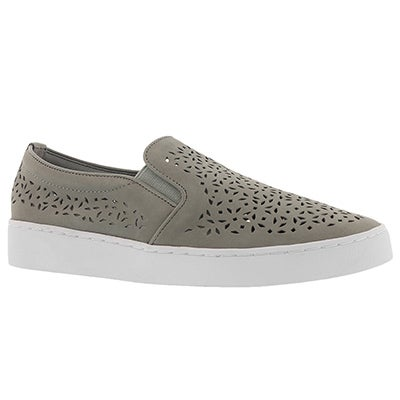 Lds Midi Perf grey casual slip on shoe