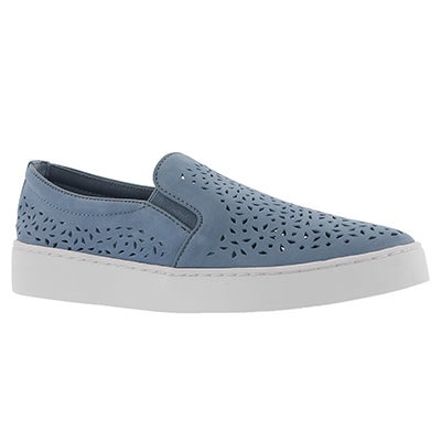 Lds Midi Perf lt blu casual slip on shoe