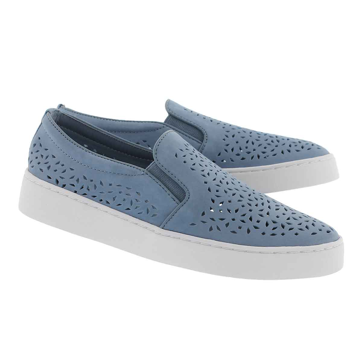 Lds Midi Perf lt blu casual slip on shoe