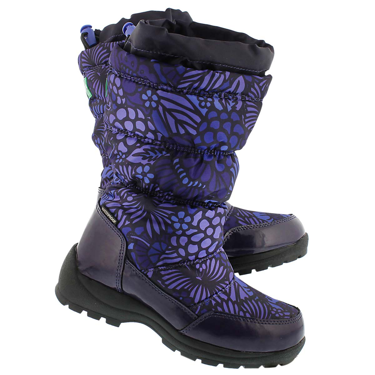Grls Mikki purple nylon wtpf winter boot