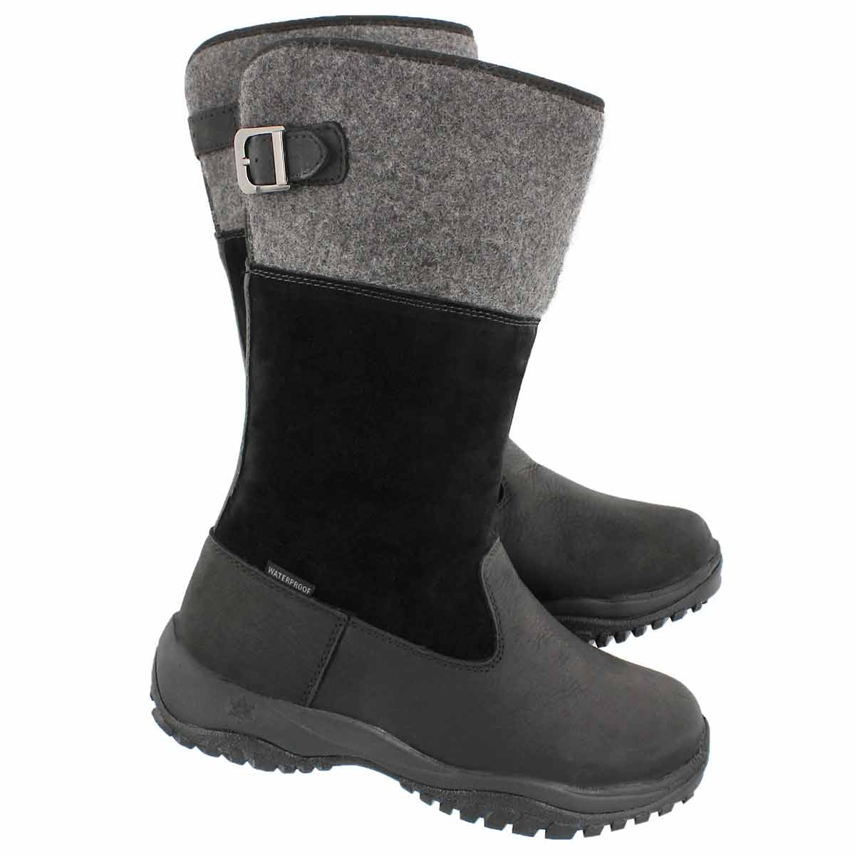 Lds Engleberg blk tall wtpf winter boot