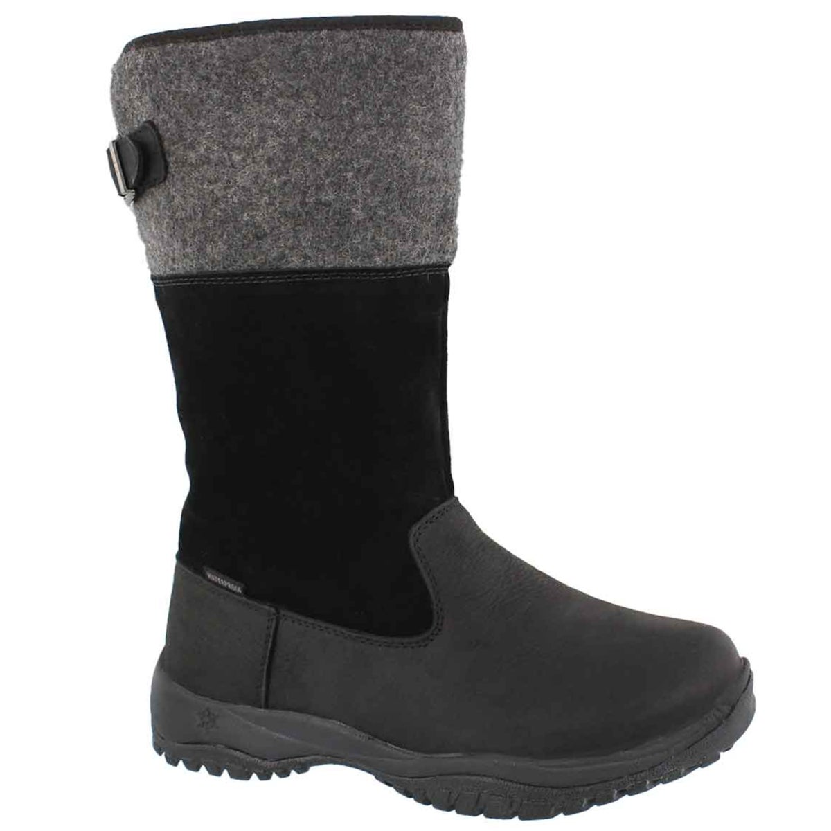 Women's ENGLEBERG blk tall waterproof winter boots