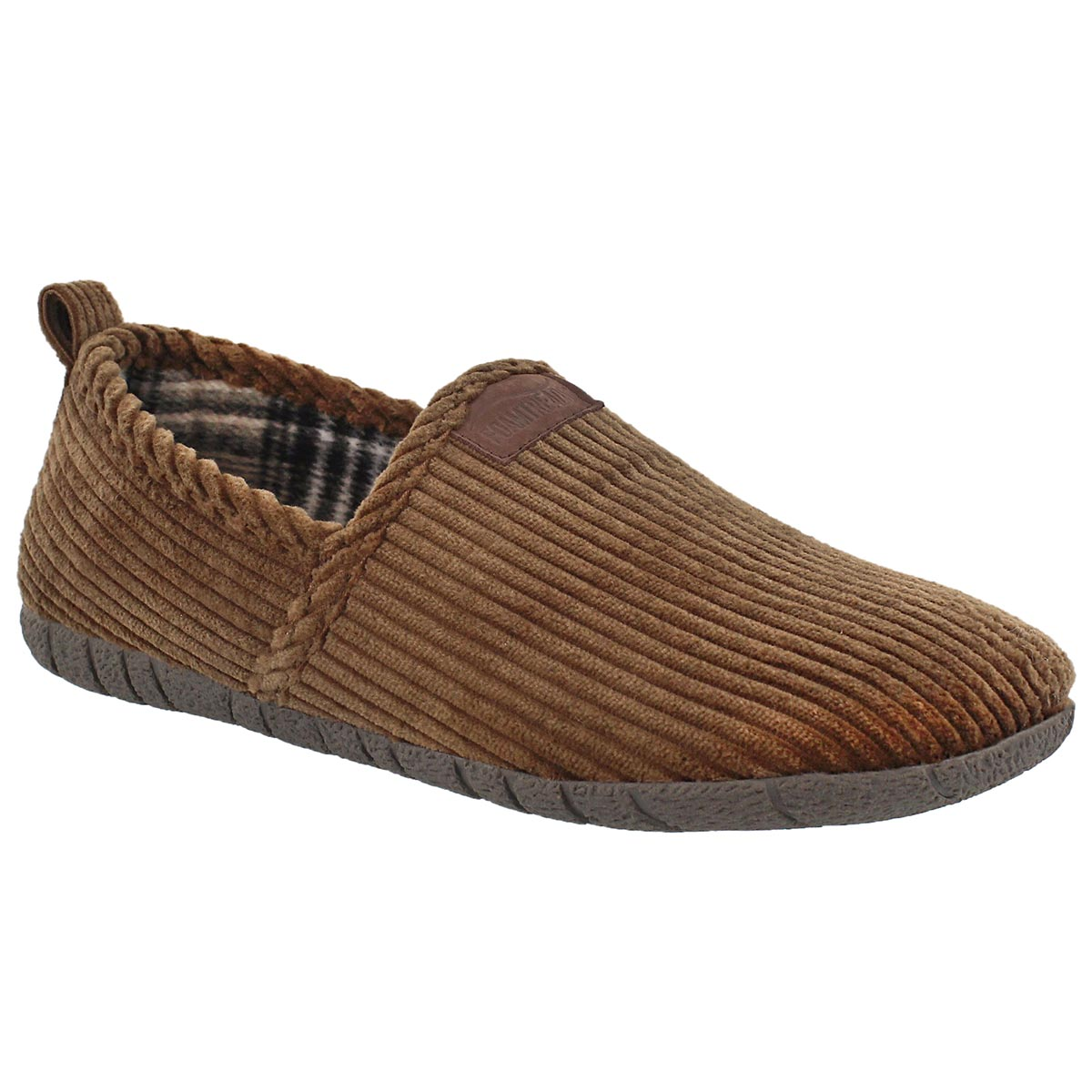 Men's MILTON brown closed back slippers