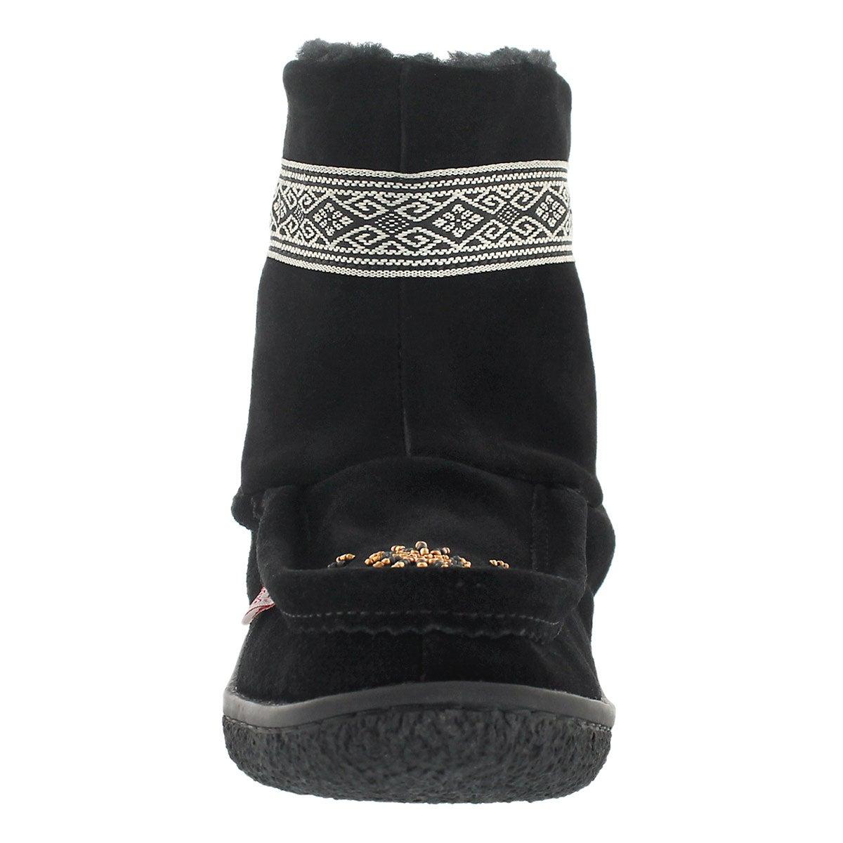 Lds black braid detail mini mukluk