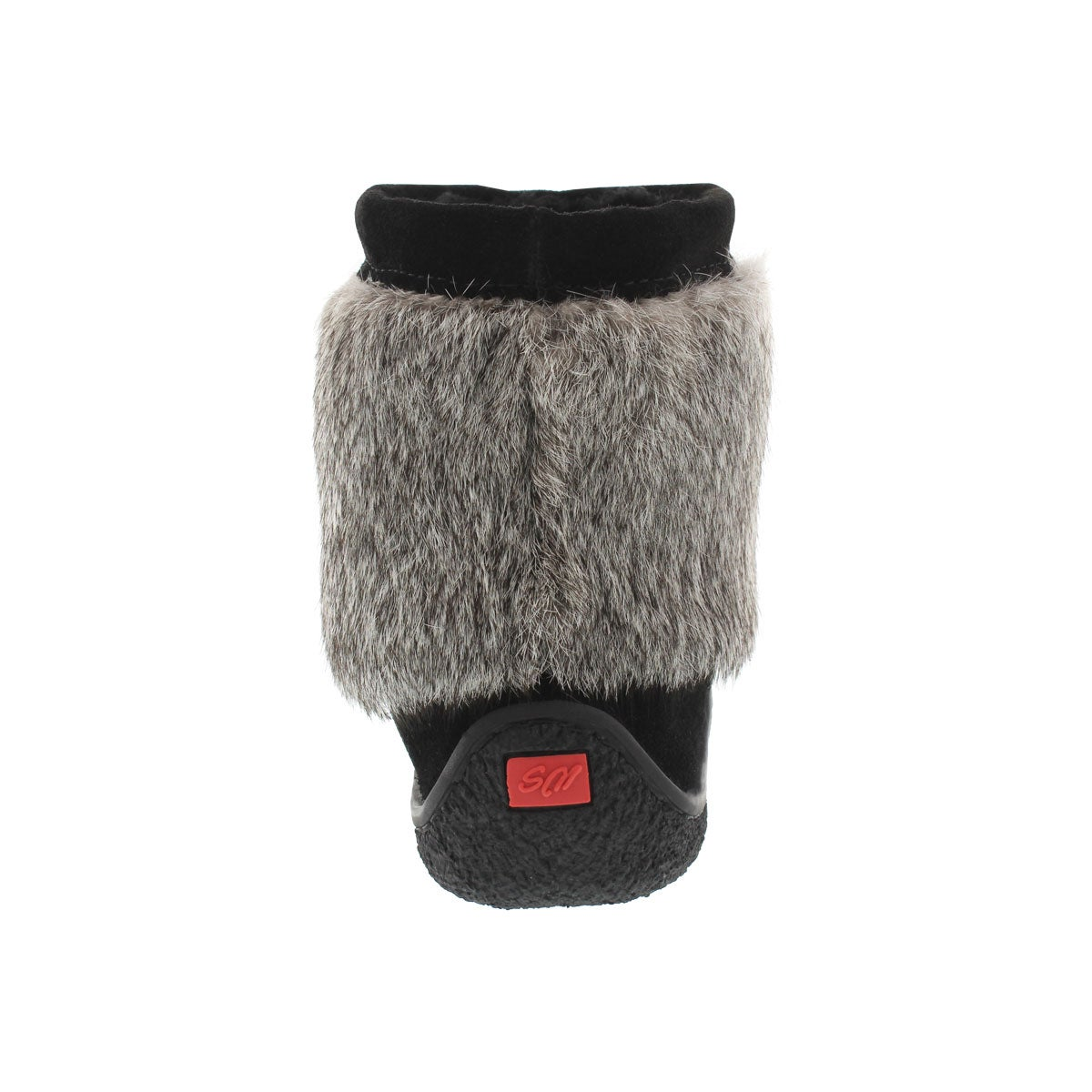 Lds Minimuk black rabbit fur bootie
