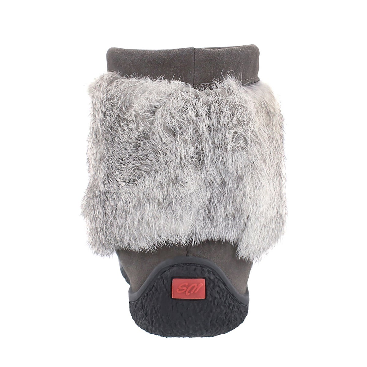 Lds Minimuk grey rabbit fur bootie
