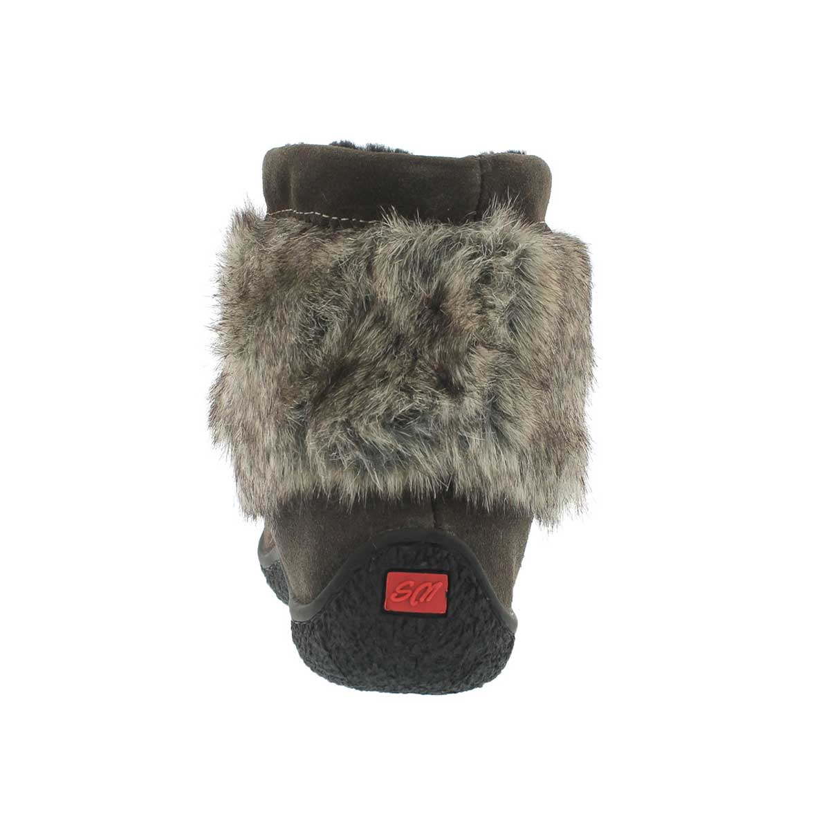 Grls 8532Minimuk gry rabbit fur mukluk