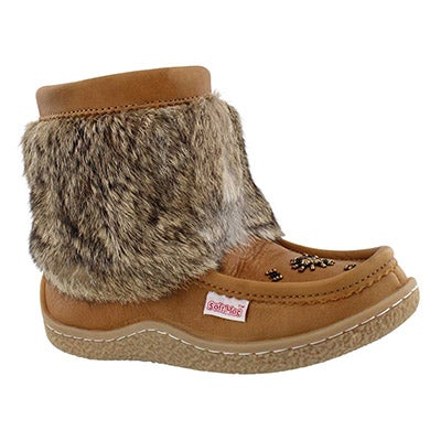 SoftMoc Women's MINIMUK cork leather mini mukluks