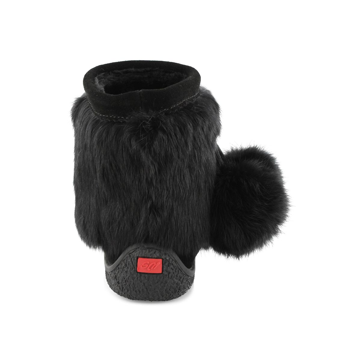 Lds Minimuk Pom black rabbit fur bootie