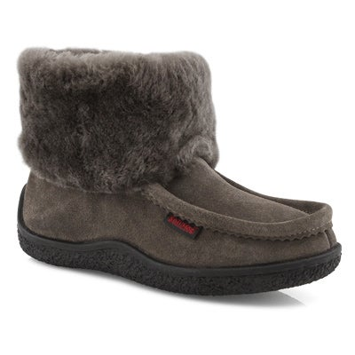 Lds Minimuk Peep gry shearling bootie