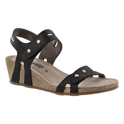 Lds Minoa black wedge sandal