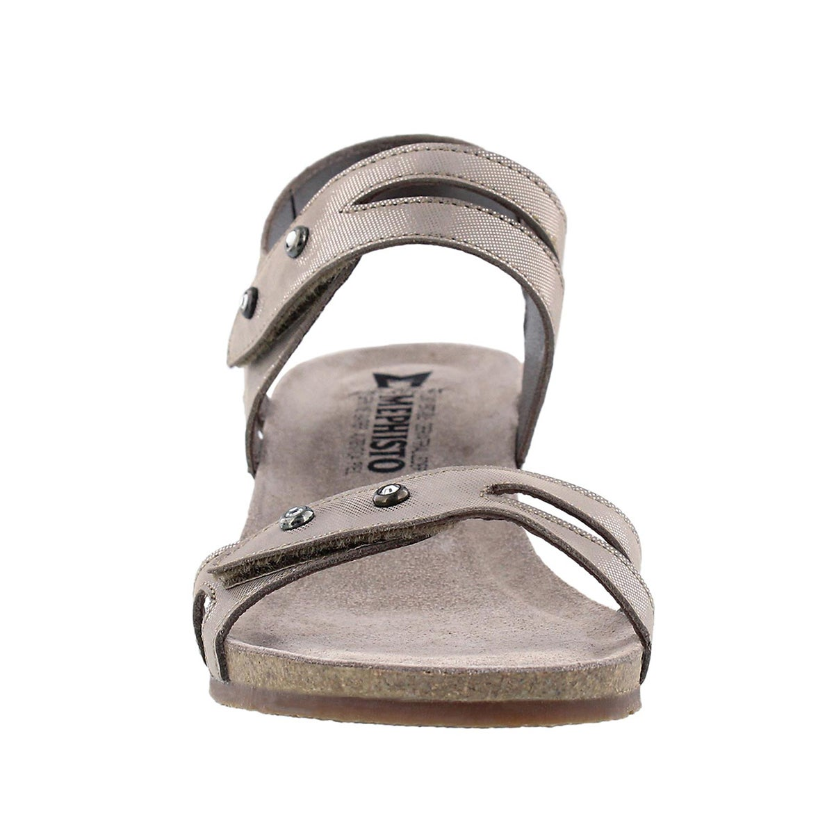 Lds Minoa silver wedge sandal
