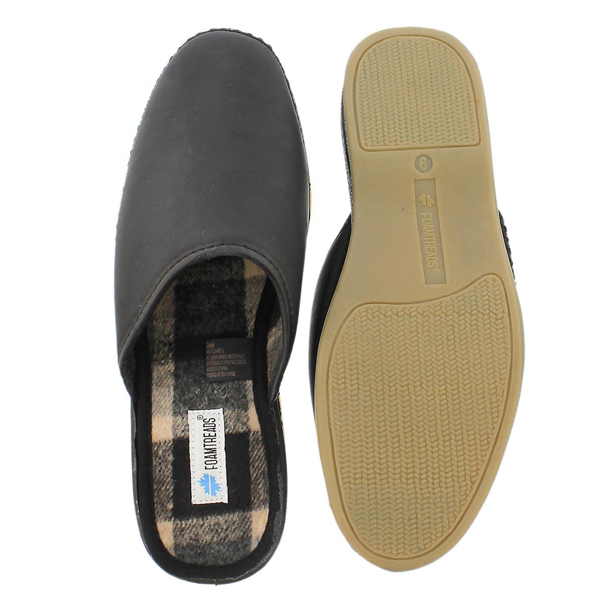 Mns Mitchell black open back slipper