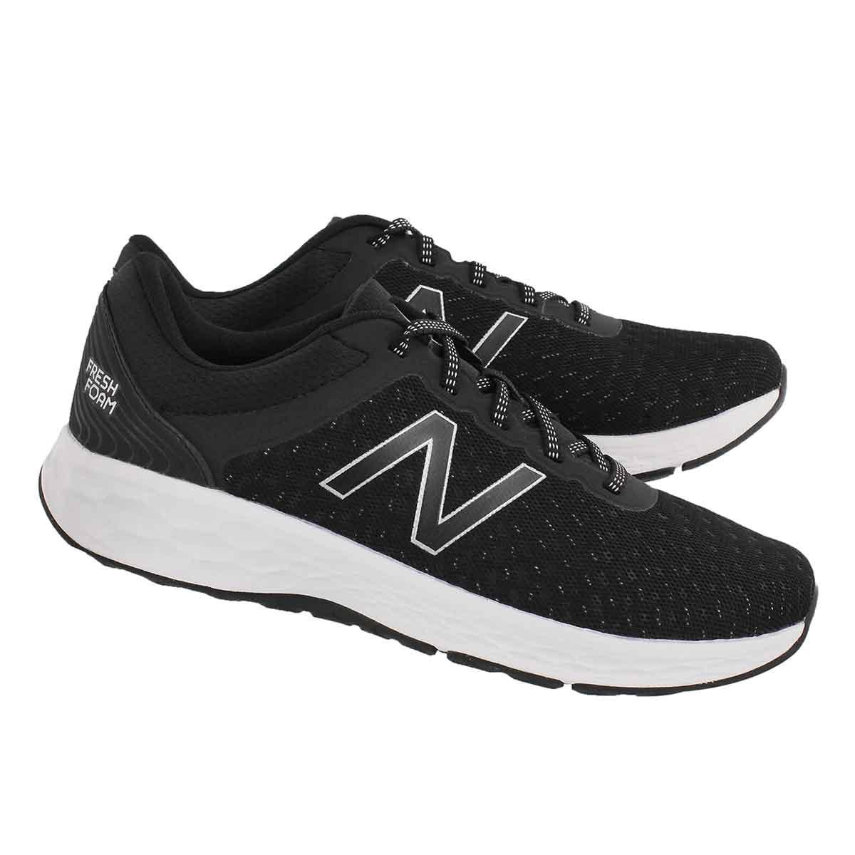 Mns Kaymin blk/overcast lace up sneaker