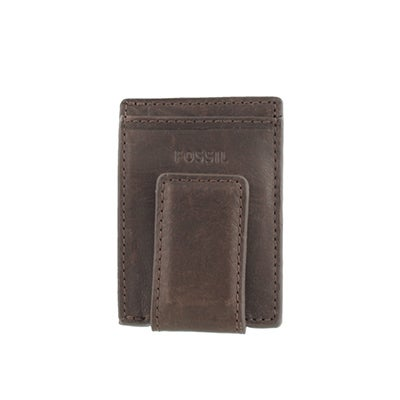 FOSSIL Men's INGRAM brown leather multi card case