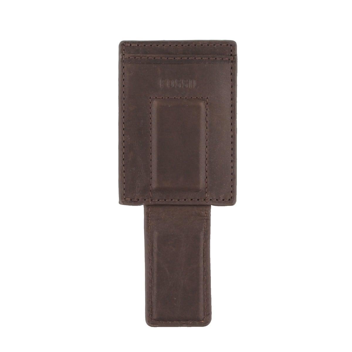 Étui à cartes Ingram, cuir brun, hommes