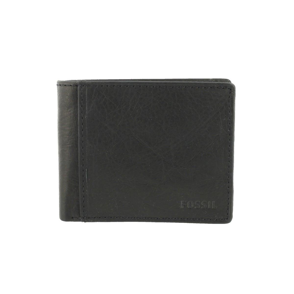 Mns Ingram Traveler black leather wallet