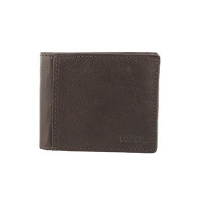 FOSSIL Men's INGRAM TRAVELER brown leather wallet