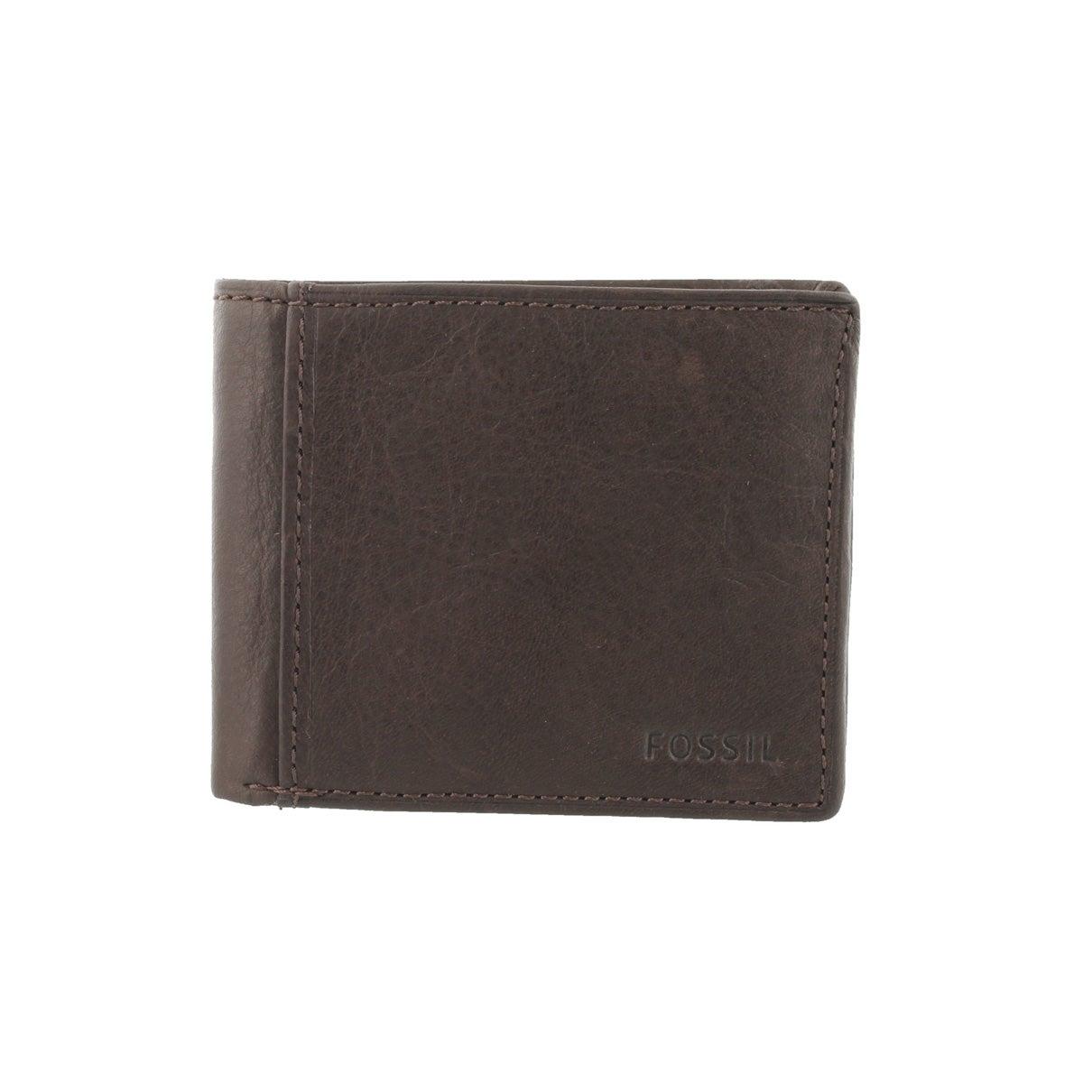 Mns Ingram Traveler brown leather wallet