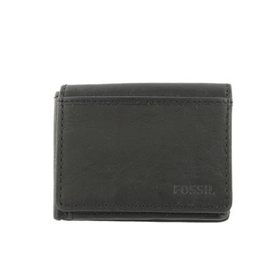 FOSSIL Men's INGRAM EXECUFOLD black leather wallet