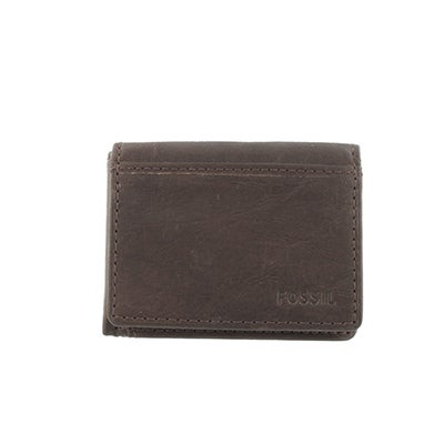 FOSSIL Men's INGRAM EXECUFOLD brown leather wallet