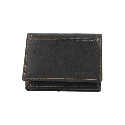 FOSSIL Men's BRADLEY EXECUFOLD black leather wallet