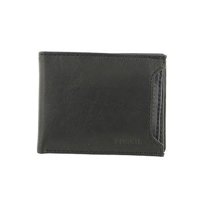 FOSSIL Men's INGRAM SLIDING 2 in 1 black leather wallet