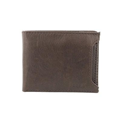 FOSSIL Men's INGRAM SLIDING 2 in 1 brown leather wallet