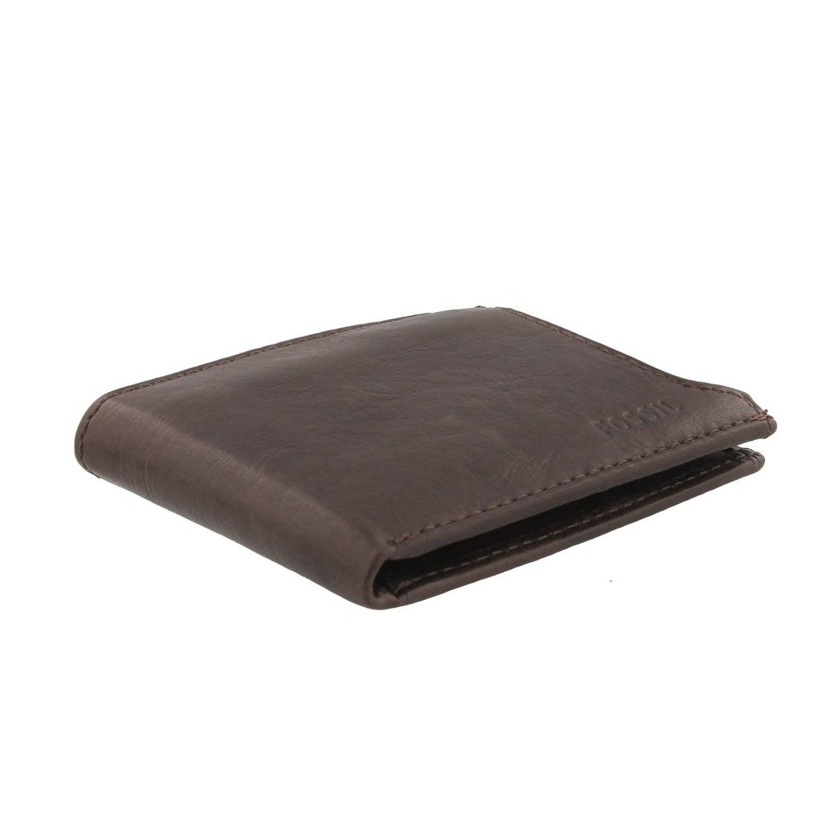 Mns Ingram Sliding 2in1 brn lthr wallet
