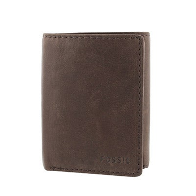 FOSSIL Men's INGRAM TRIFOLD brown leather wallet