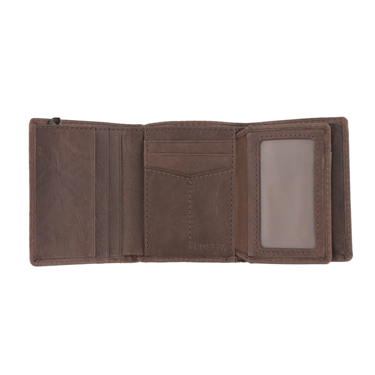 Mns Ingram Trifold brown leather wallet