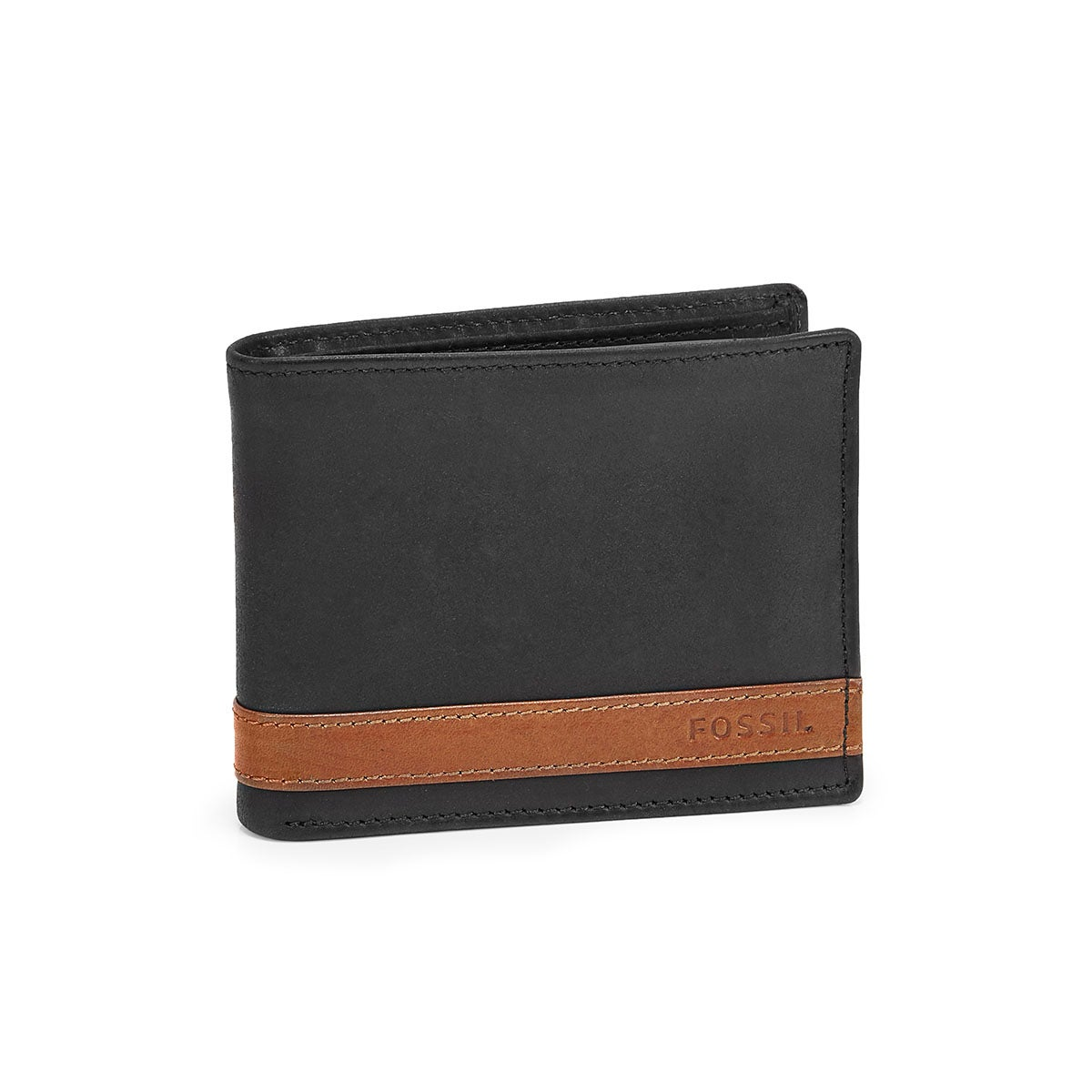 Mns Quinn Bifold Flip ID blk lthr wallet