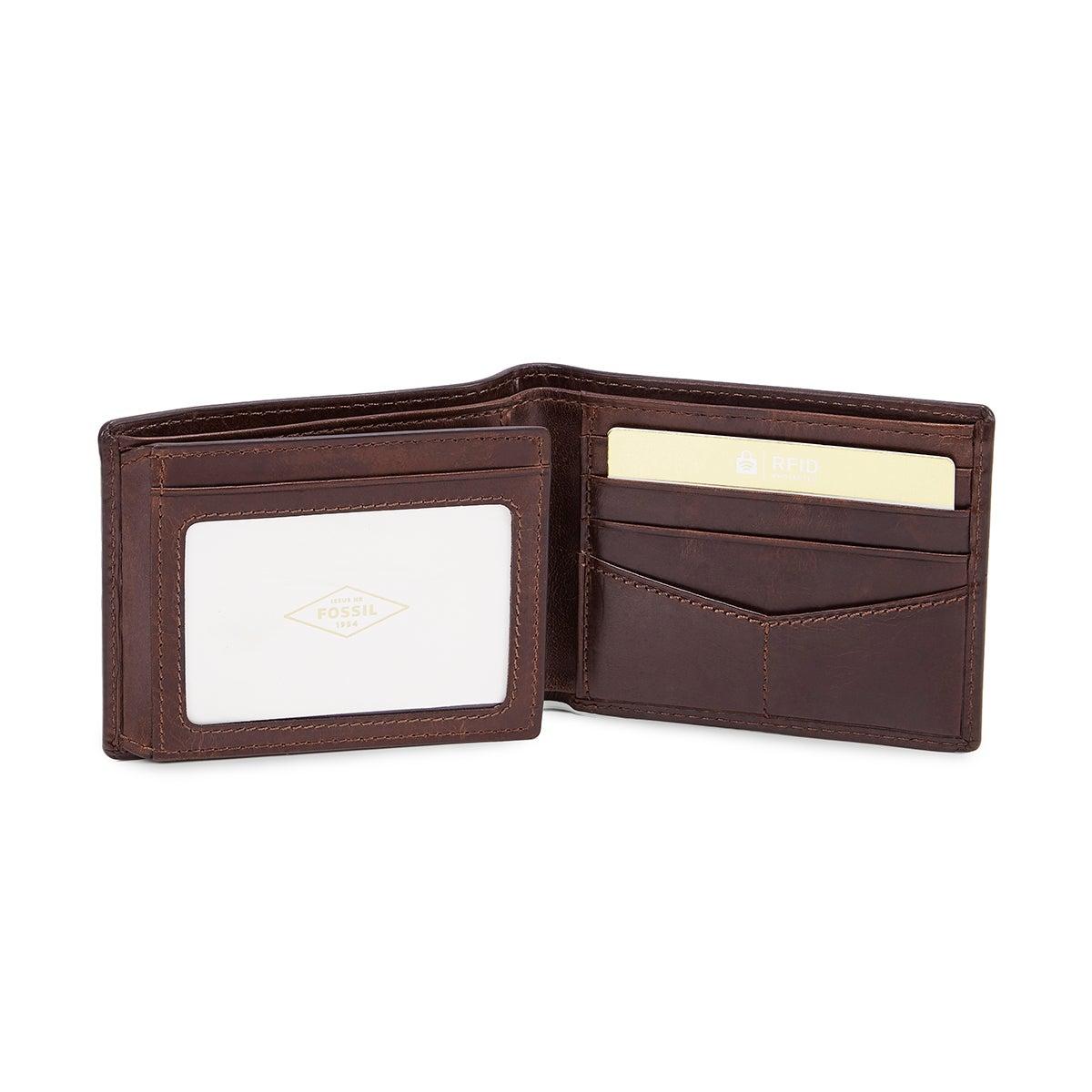 Mns Derrick Bifold dk brown lthr wallet