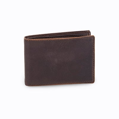 FOSSIL Portefeuille ANDERSON, cuir noir, hommes