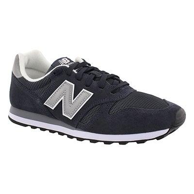 Mns 373 navy/silver lace up sneaker