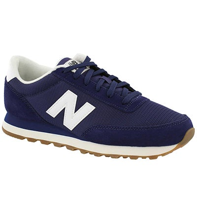 New Balance Men's 501 navy/white lace up sneakers
