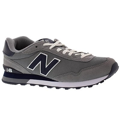 New Balance Men's 515 grey lace up sneakers