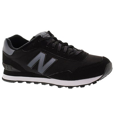 New Balance Men's 515 black lace up sneakers