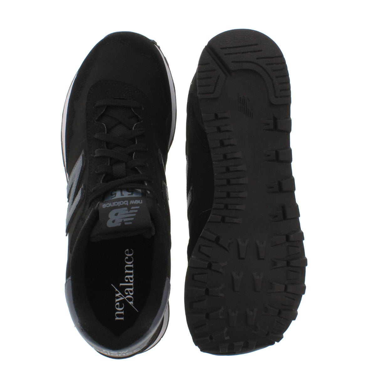 Mns 515 black lace up sneaker