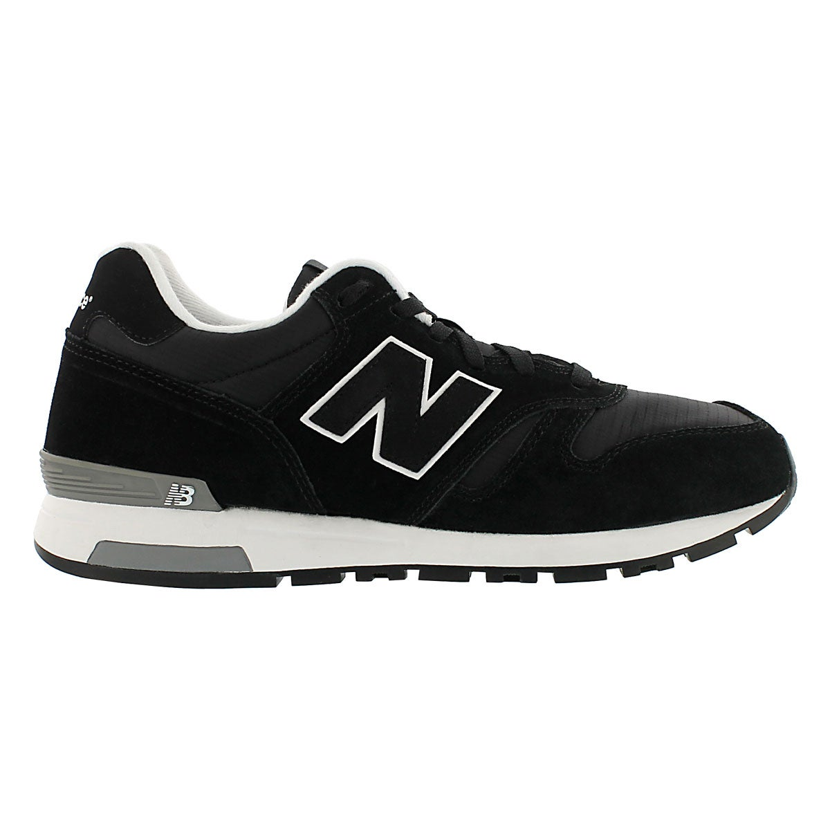 Mns 565 black lace up running shoe